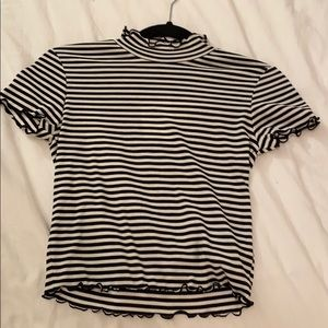 Black and White striped T- Shirt